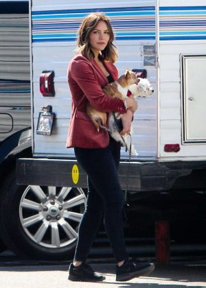 Katherine McPhee  With her dogs Wilmer and Lady on the