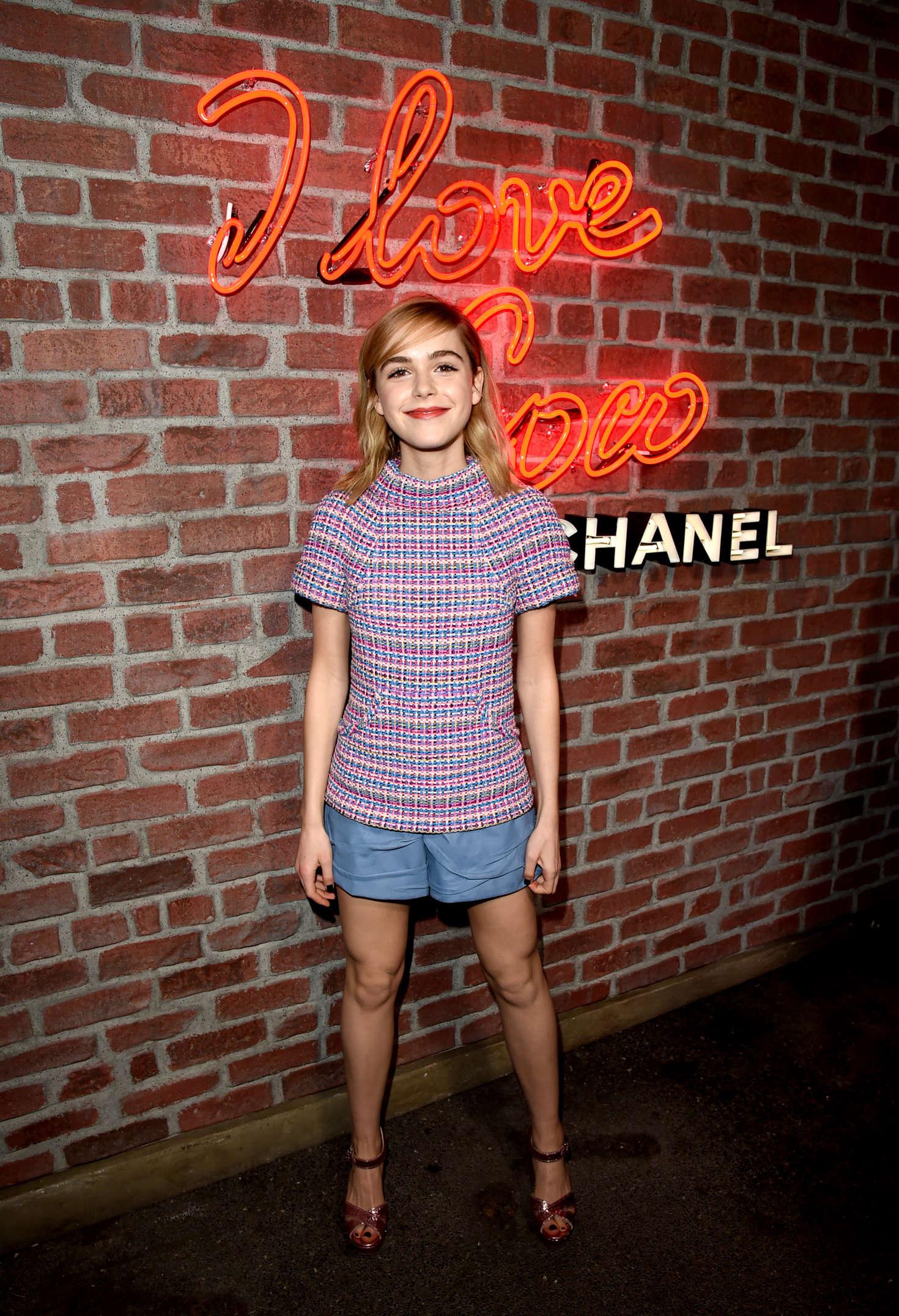 Kiernan Shipka  I Love Coco Backstage Beauty Lounge in LA