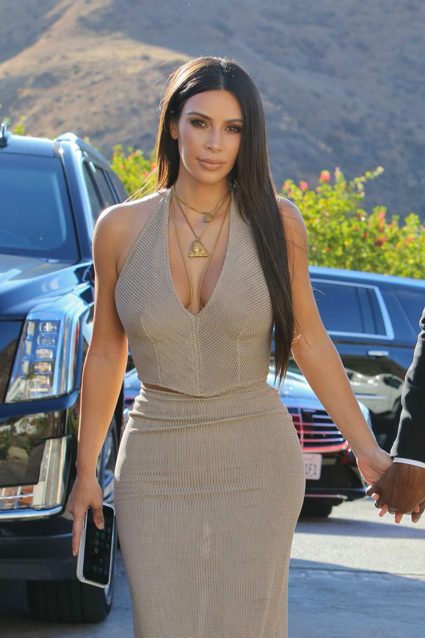 Kim Kardashian at her friends wedding in Simi Valley  GotCeleb