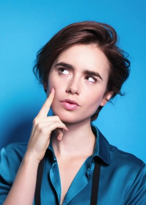 Lily Collins Lancome Promo Shoot
