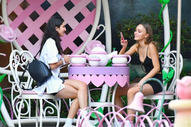 Lily Rose Depp at Disneyland in Los Angeles -10