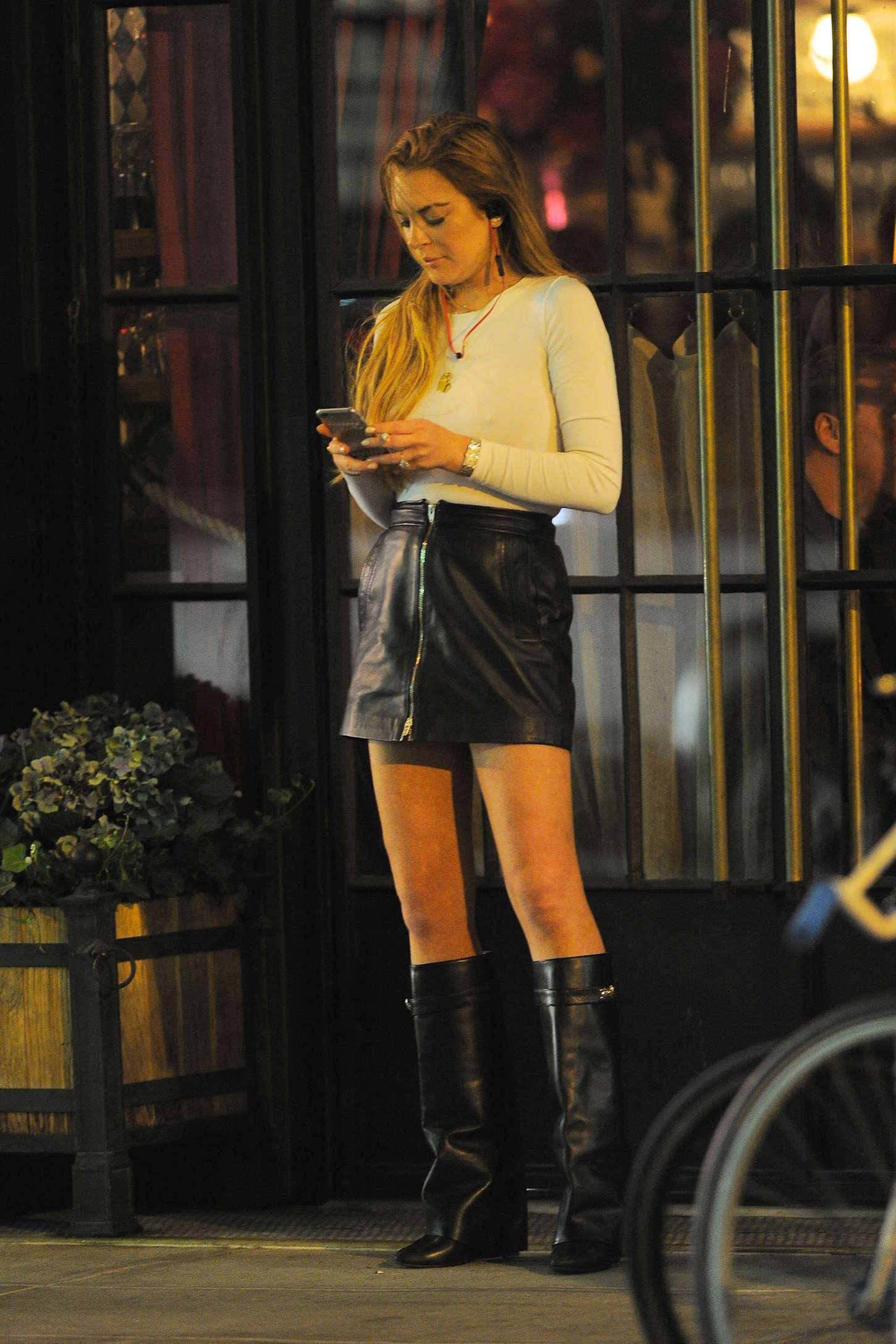 Lindsay Lohan  Night Out in New York  GotCeleb
