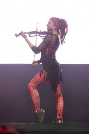Lindsey Stirling performing at the 2015 Life Is Beautiful festival