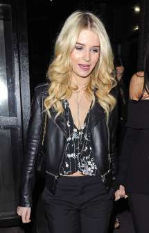 Lottie Moss In Leather Jacket Nightout Chelsea Gotceleb