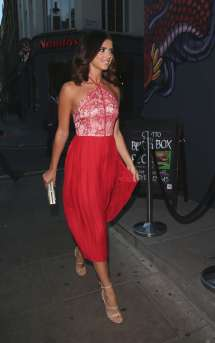 Lucy Mecklenburgh In Red Dress London Gotceleb