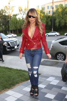 Mariah Carey In Jeans And Red Jacket -21 Gotceleb