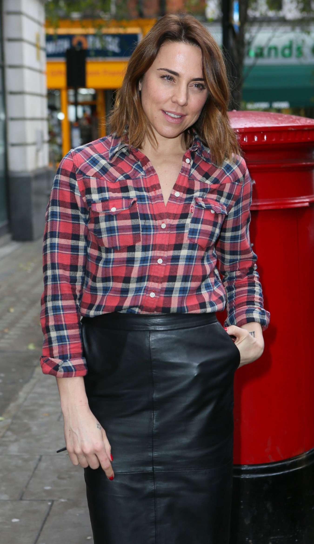Mel C  Leaving BBC Radio 2 Studios in London