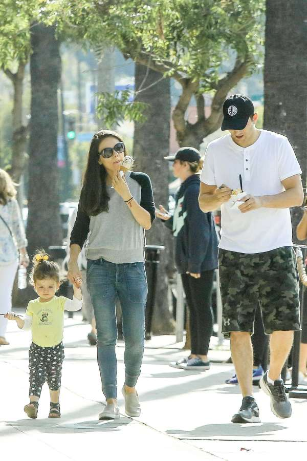 Mila Kunis With Family In Beverly Hills -02 - Gotceleb