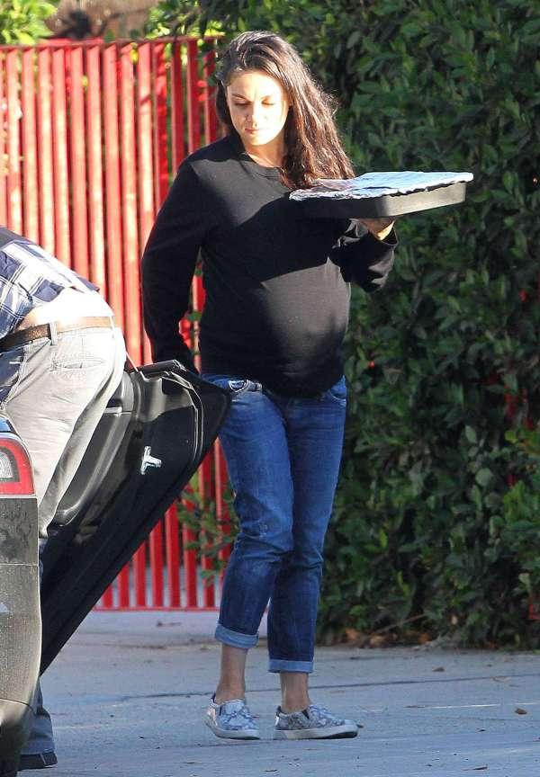 Mila Kunis With Family In Studio City Gotceleb