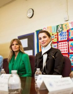 Rania al abdullah and melania trump visited the excel academy public charter school in washington also rh gotceleb