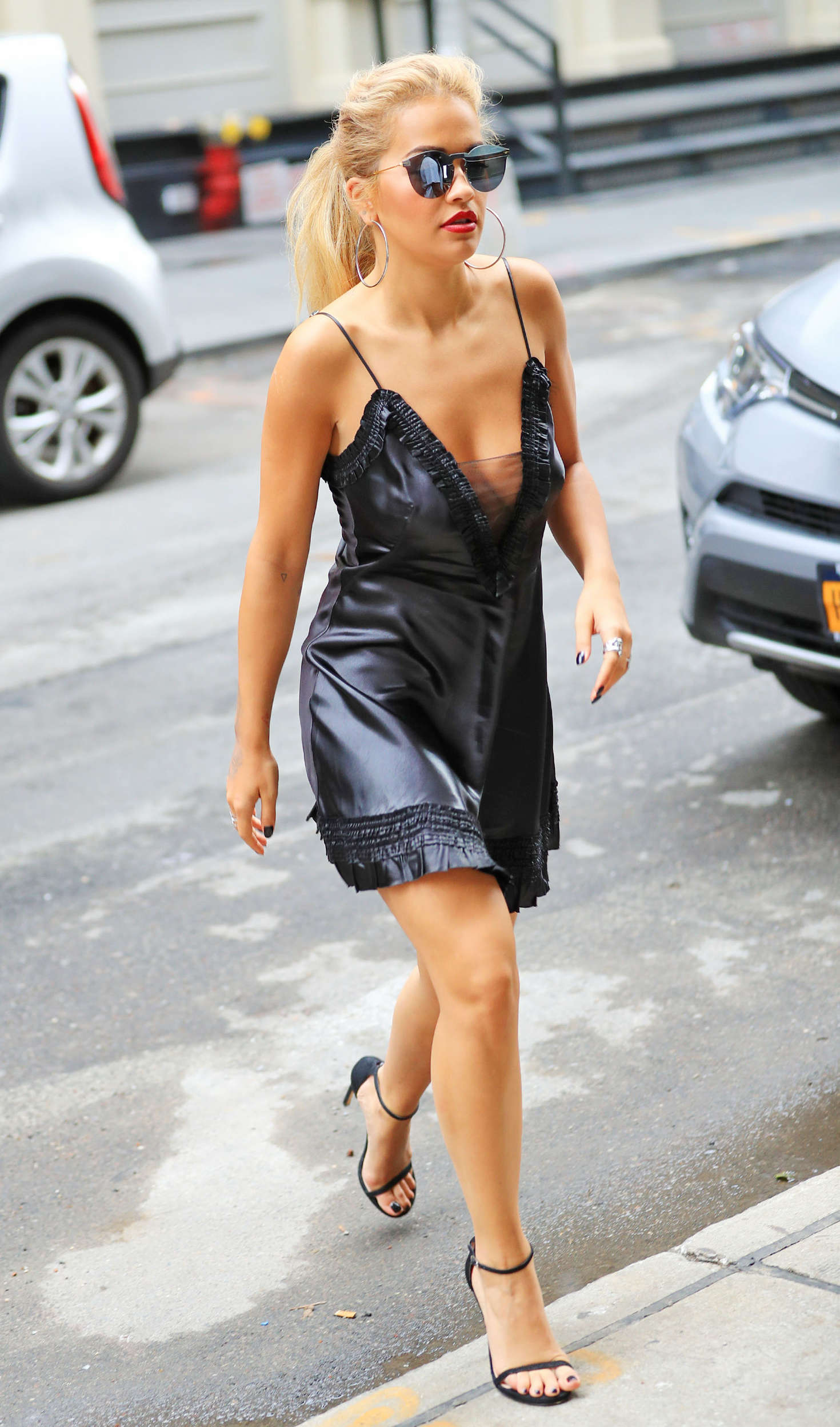 Rita Ora in Black Mini Dress 16  GotCeleb