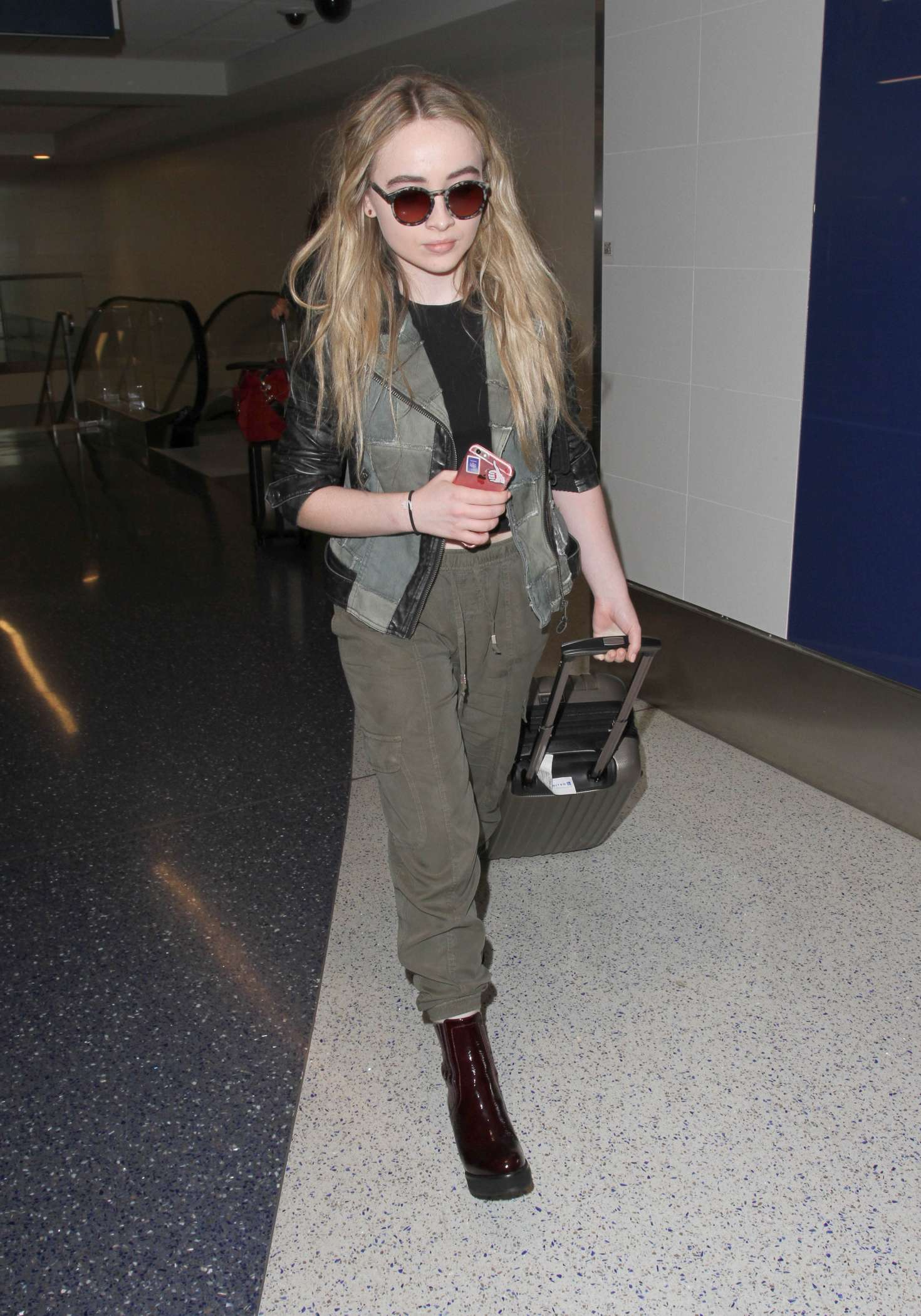 Sabrina Carpenter Arrives At LAX Airport In Los Angeles