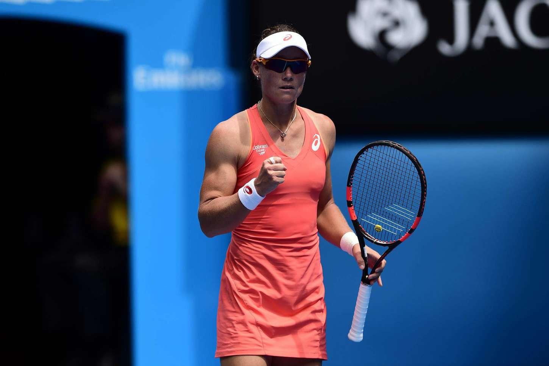 Samantha Stosur  2015 Australian Open in Melbourne Day 2  GotCeleb