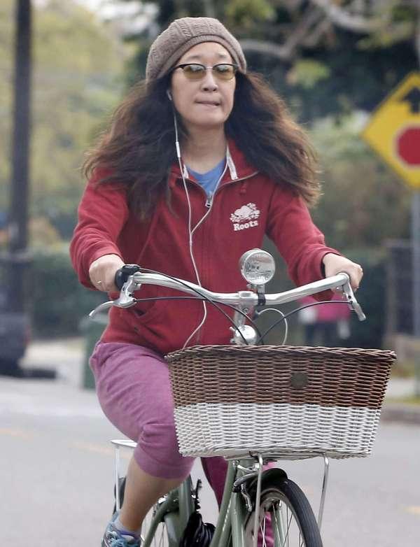 Sandra Bike Ride In Los Angeles