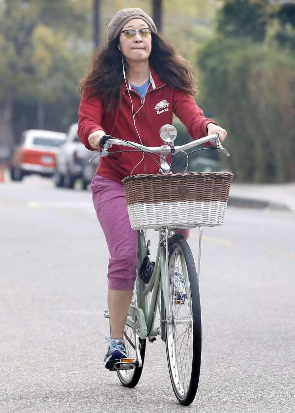 Sandra Bike Ride In Los Angeles -05 Gotceleb