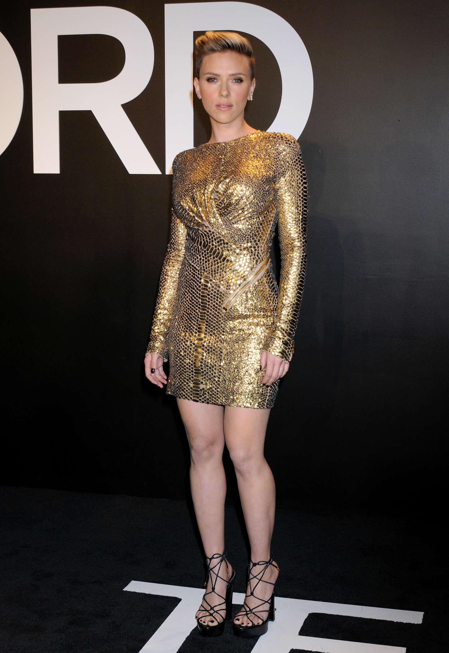 Scarlett Johansson Tom Ford 2015 Womenswear Collection