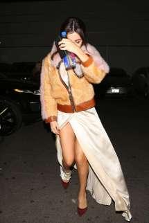 Selena Gomez In Long Dress Dinner Los Angeles