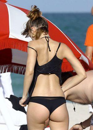 Ursula Corbero in Black Bikini 2016 01  GotCeleb