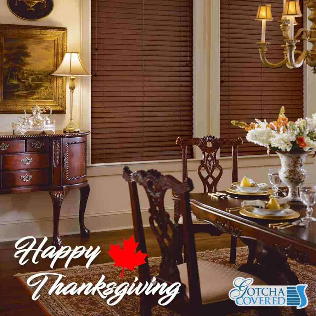 Happy Thanksgiving to our friends and family in Canada!