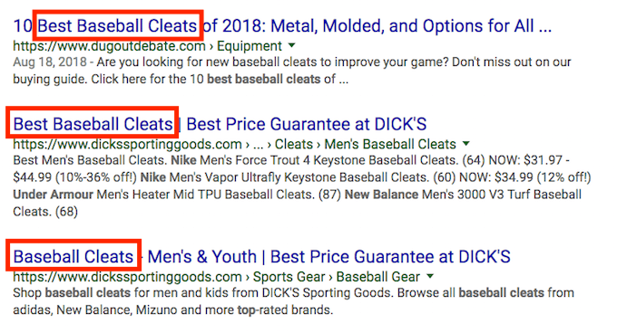 Front Loaded Keyword Title Tag