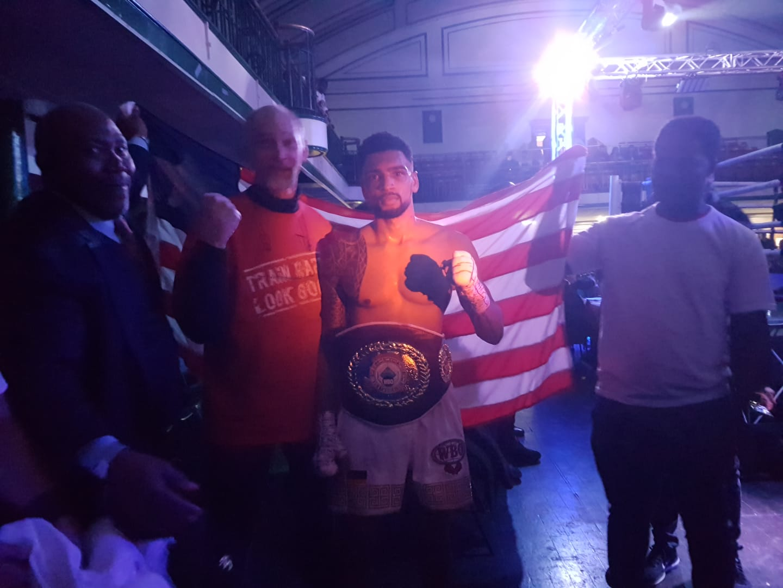 Freddy Kiwitt with European Welterweight Belt