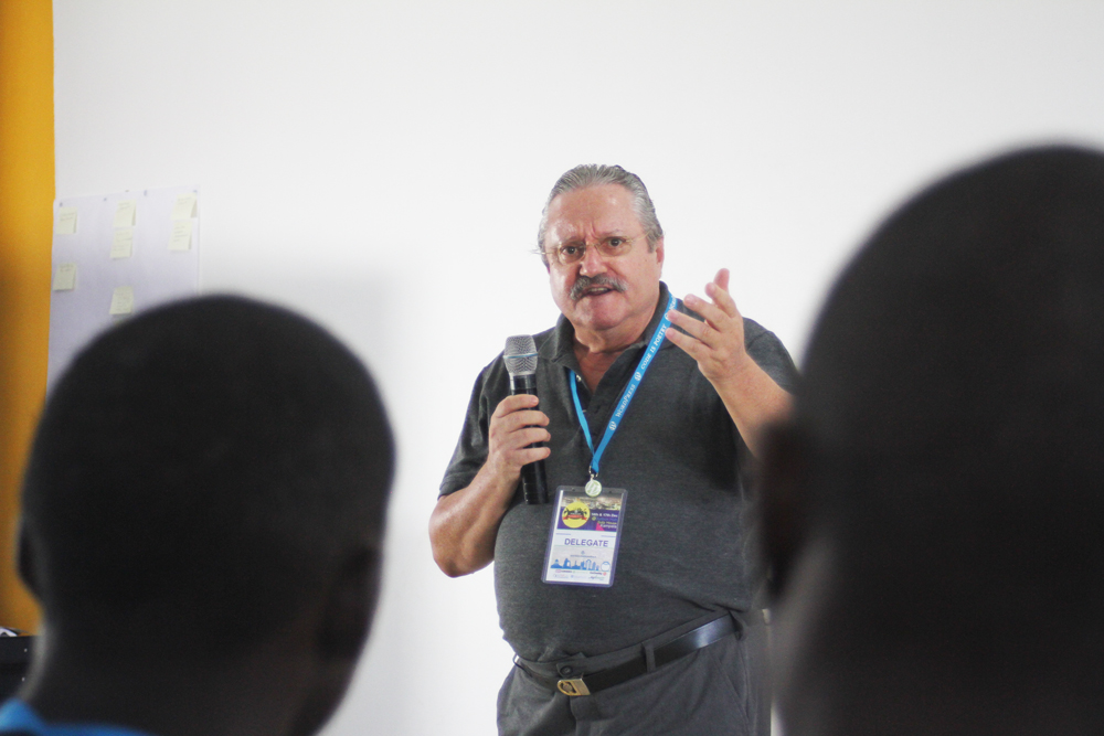 Prof Wolfgang of ATC News @ wordcamp kampala