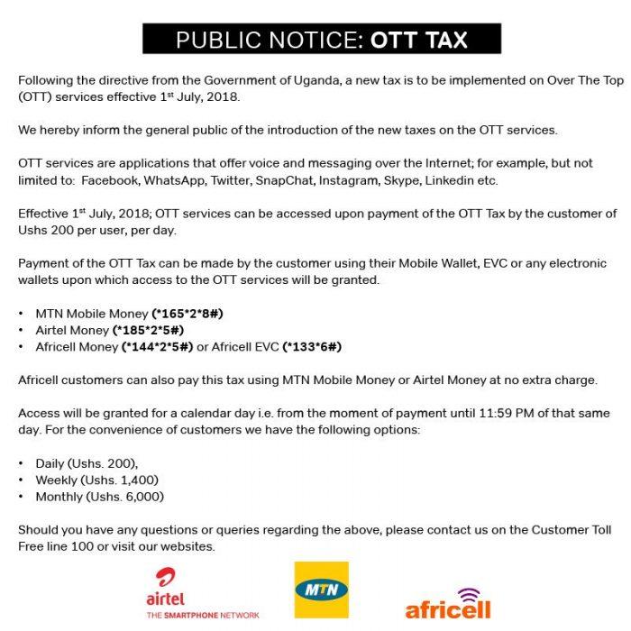 Social Media Tax Joint Statement