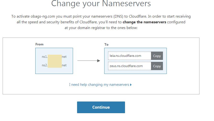 switching nameservers