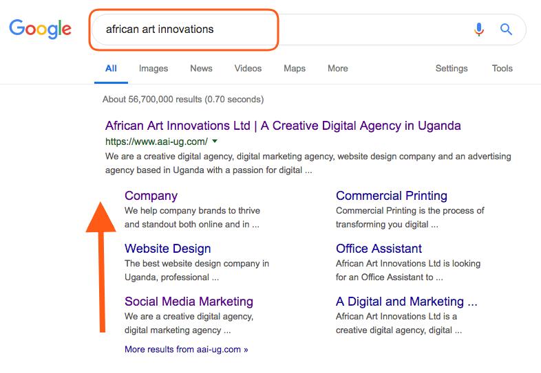 sitelinks for African Art Innovations