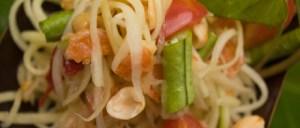 Som Tam Papaya Salad *** Local Caption *** อาหารไทย