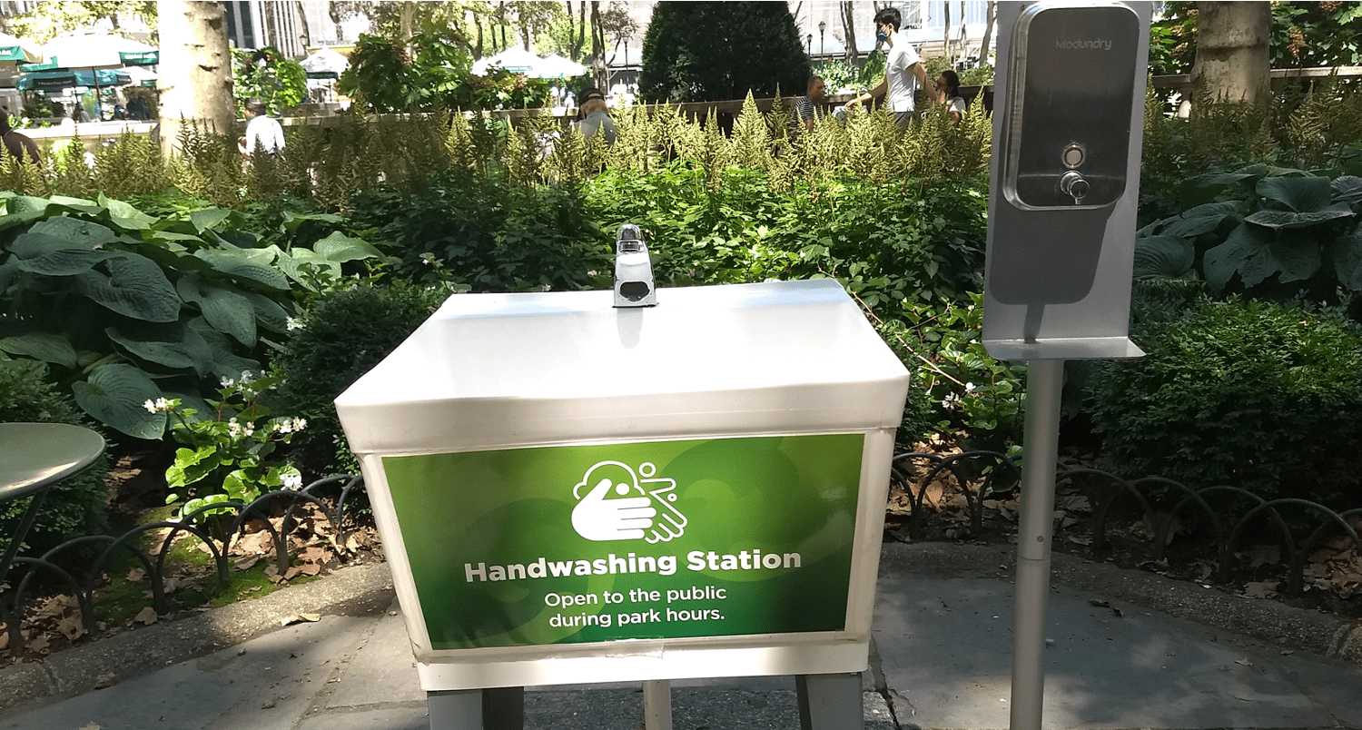 NYC September Updates: Hand-washing Station