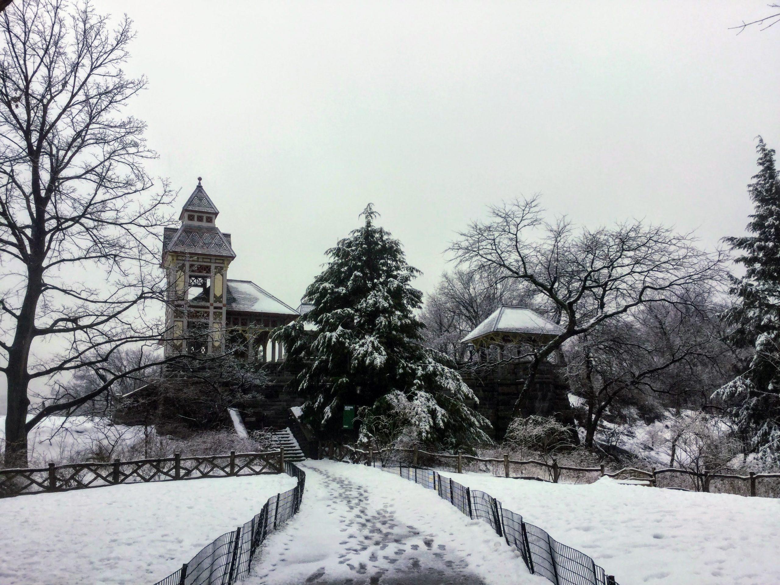 Belvedere Castle in the Snow