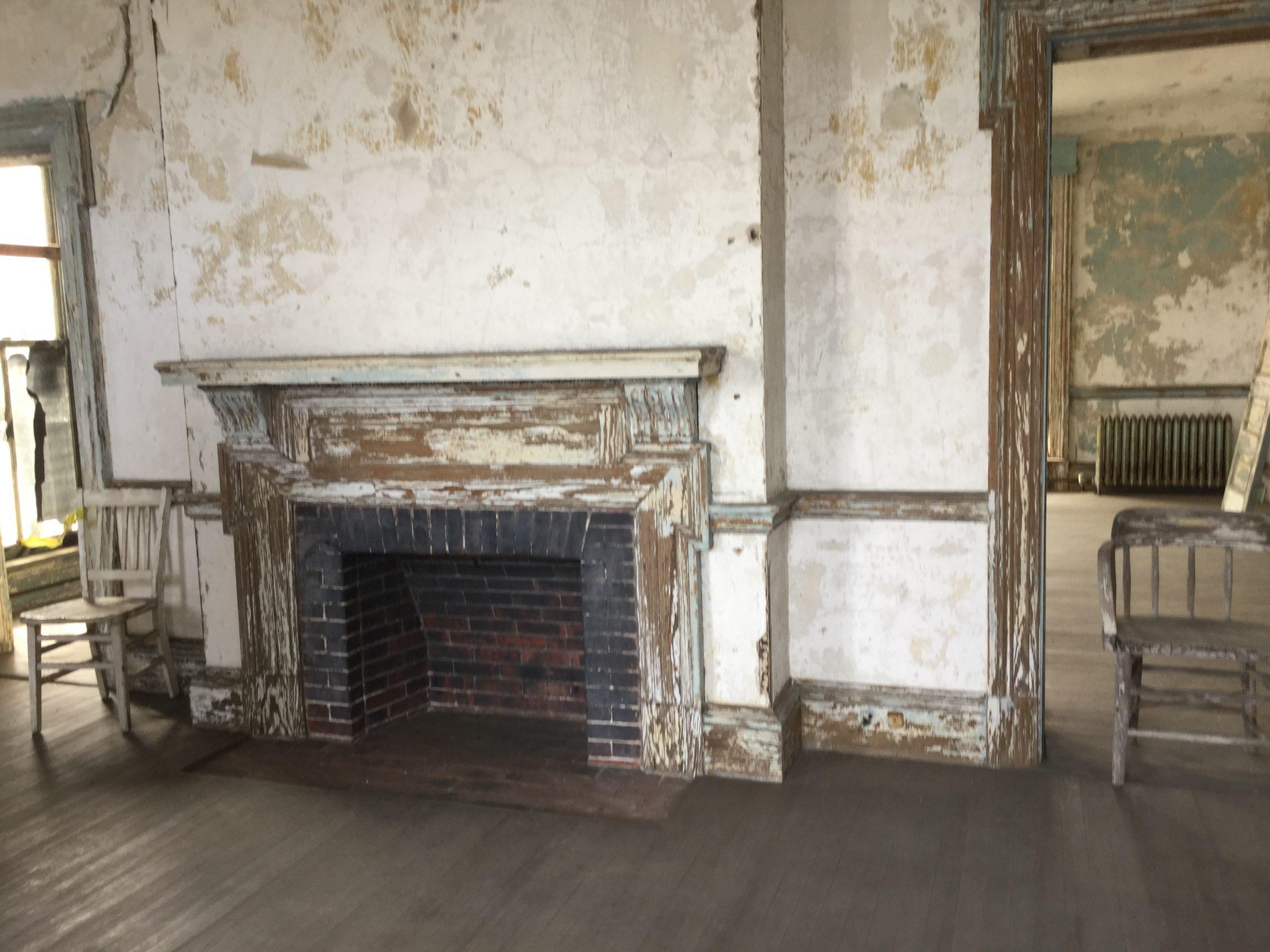 abandoned Ellis Island hospital complex
