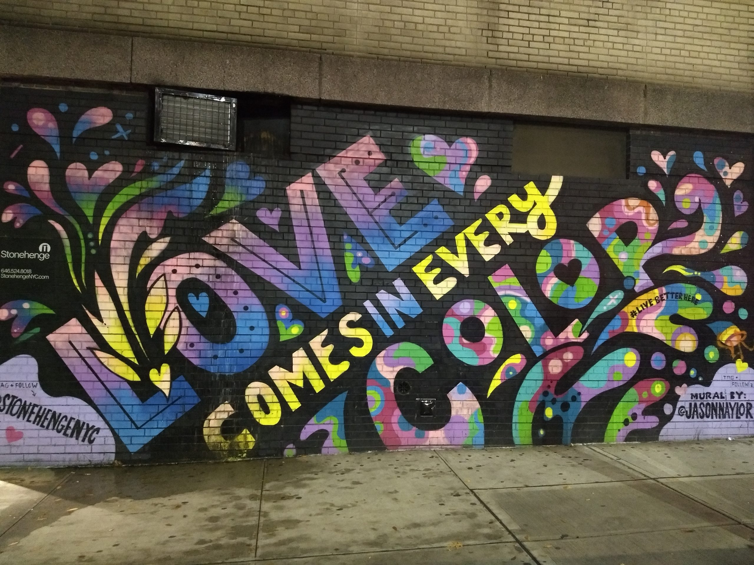 Love Comes in Every Color Street Art