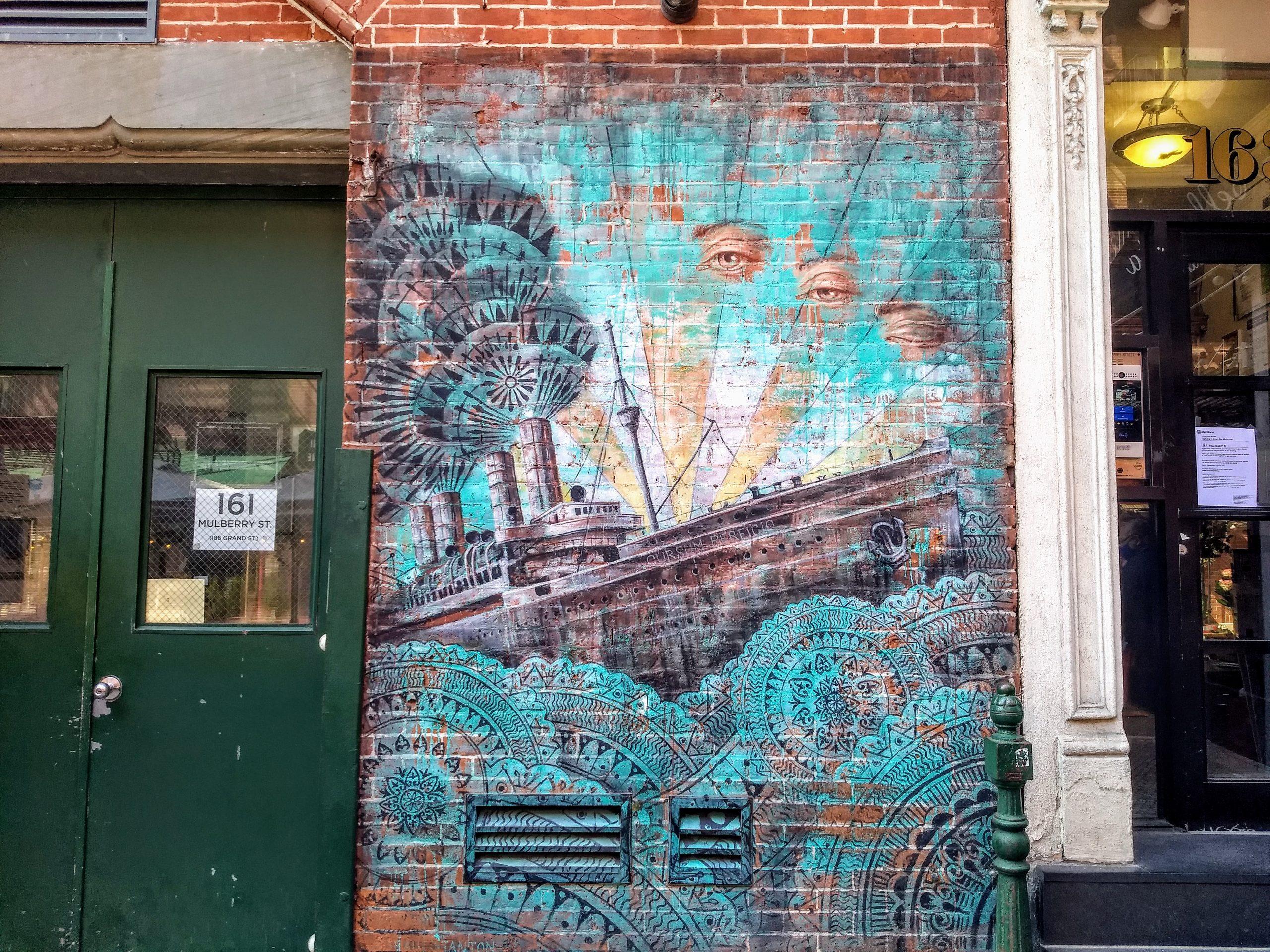 Cursum Perficio ship mural