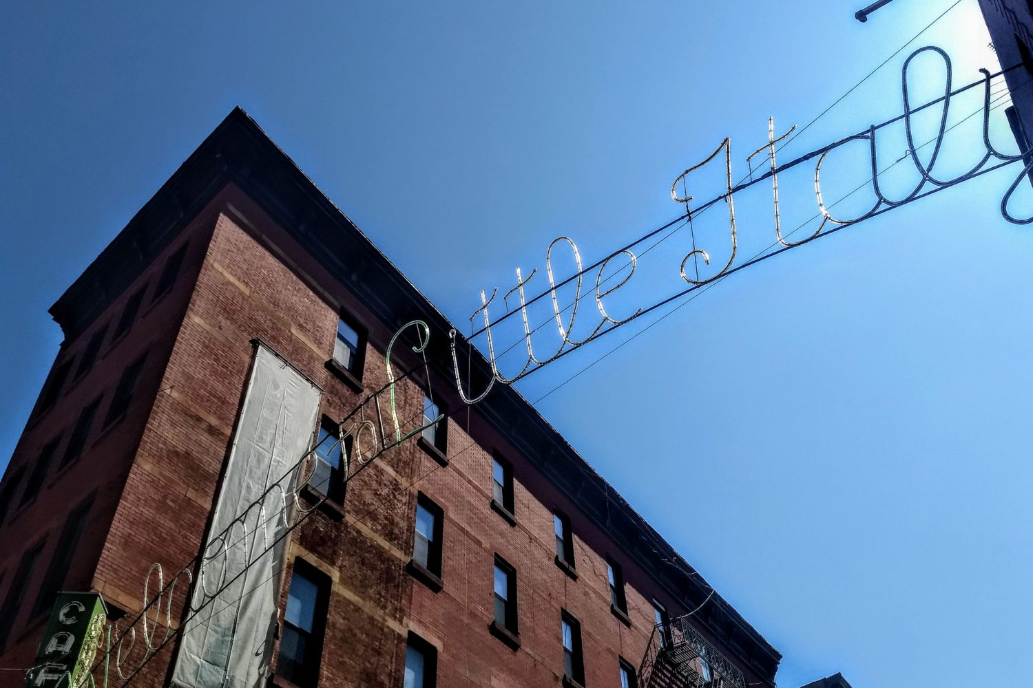 Welcome to Little Italy sign