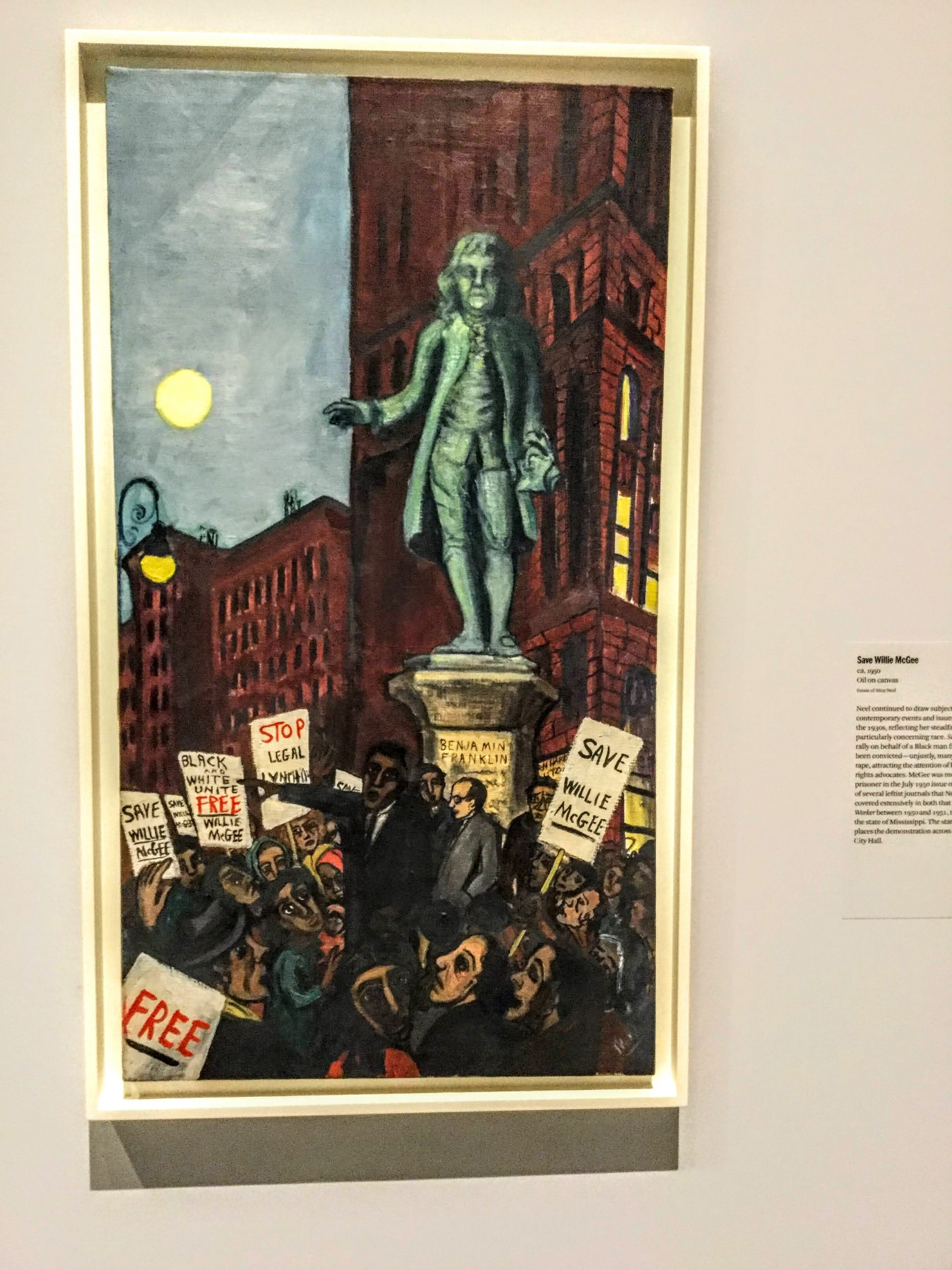 Save Willie McGee by Alice Neel
