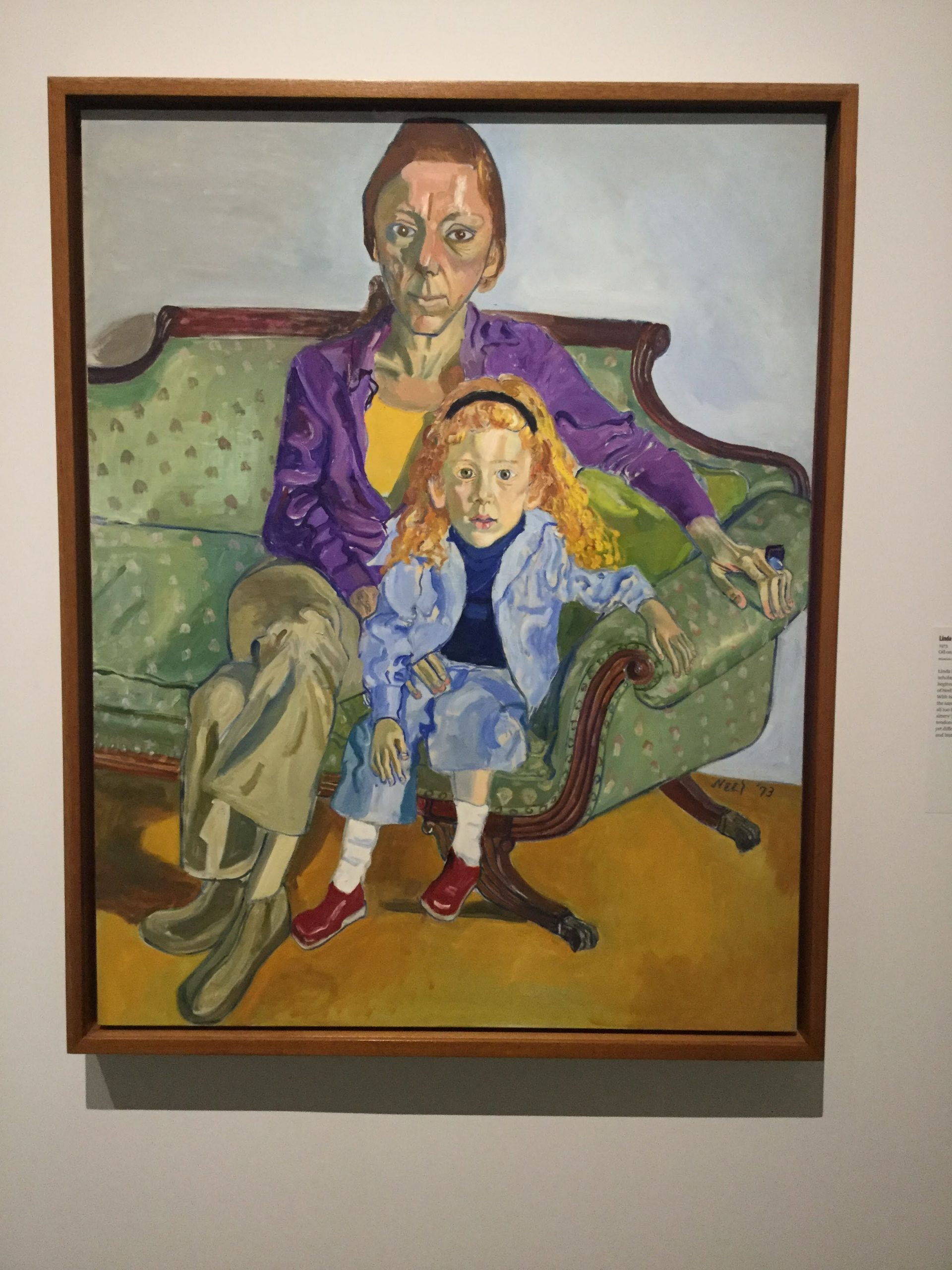 """""""Linda Nochlin and Daisy"""" by Alice Neel at the Met"""