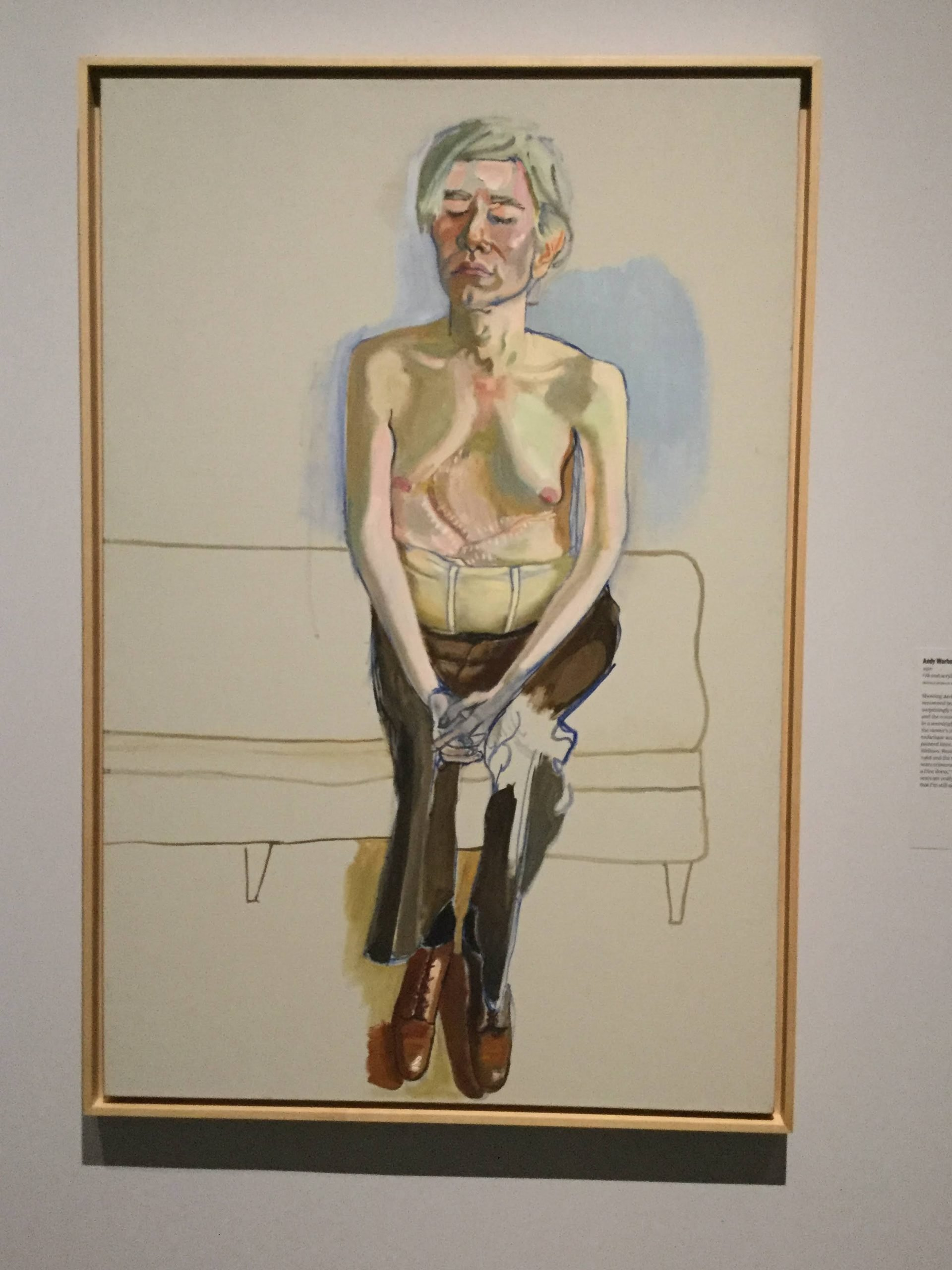 """""""Andy Warhol"""" by Alice Neel at the Met"""
