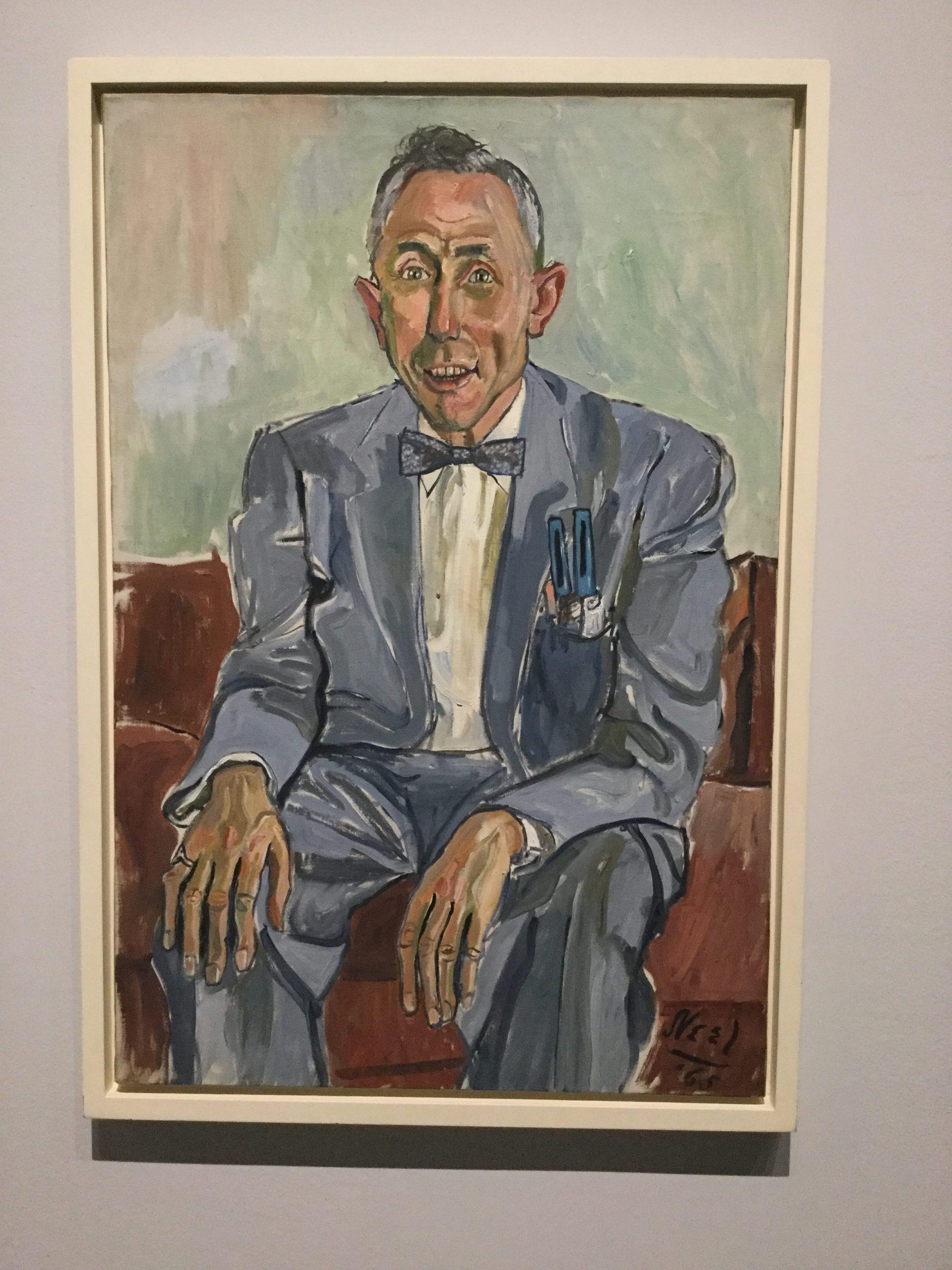 """""""Fuller Brush Man"""" by Alice Neel at the Met"""