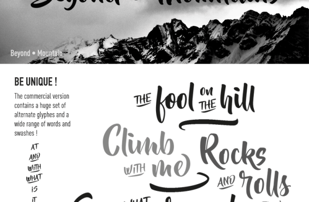 Beyond The Mountains Font