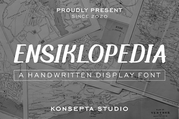 Ensiklopedia Display Font