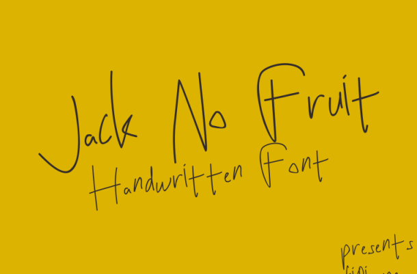 Jack No Fruit Handwritten Font