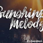 Sunshine Melody Brush Font