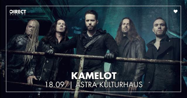 Kamelot spielen am 18.09.2018 im Astra Kulturhaus