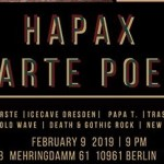 Konzertreview: Zwarte Poëzie und Hapax im Maze Berlin, 09.02.2019