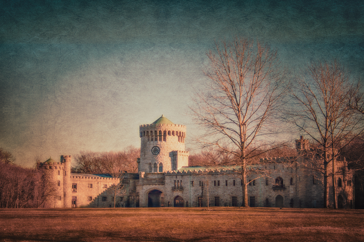 Castle Gould, the stables at Sands Point Preserve on Long Island's Gold Coast.