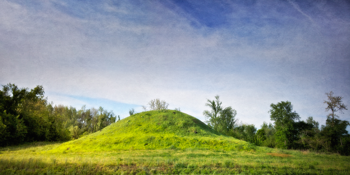 Older Mound, c. 500 A.D. Angel Mounds State Historic Site, Evansville, Vanderburgh County, Indiana
