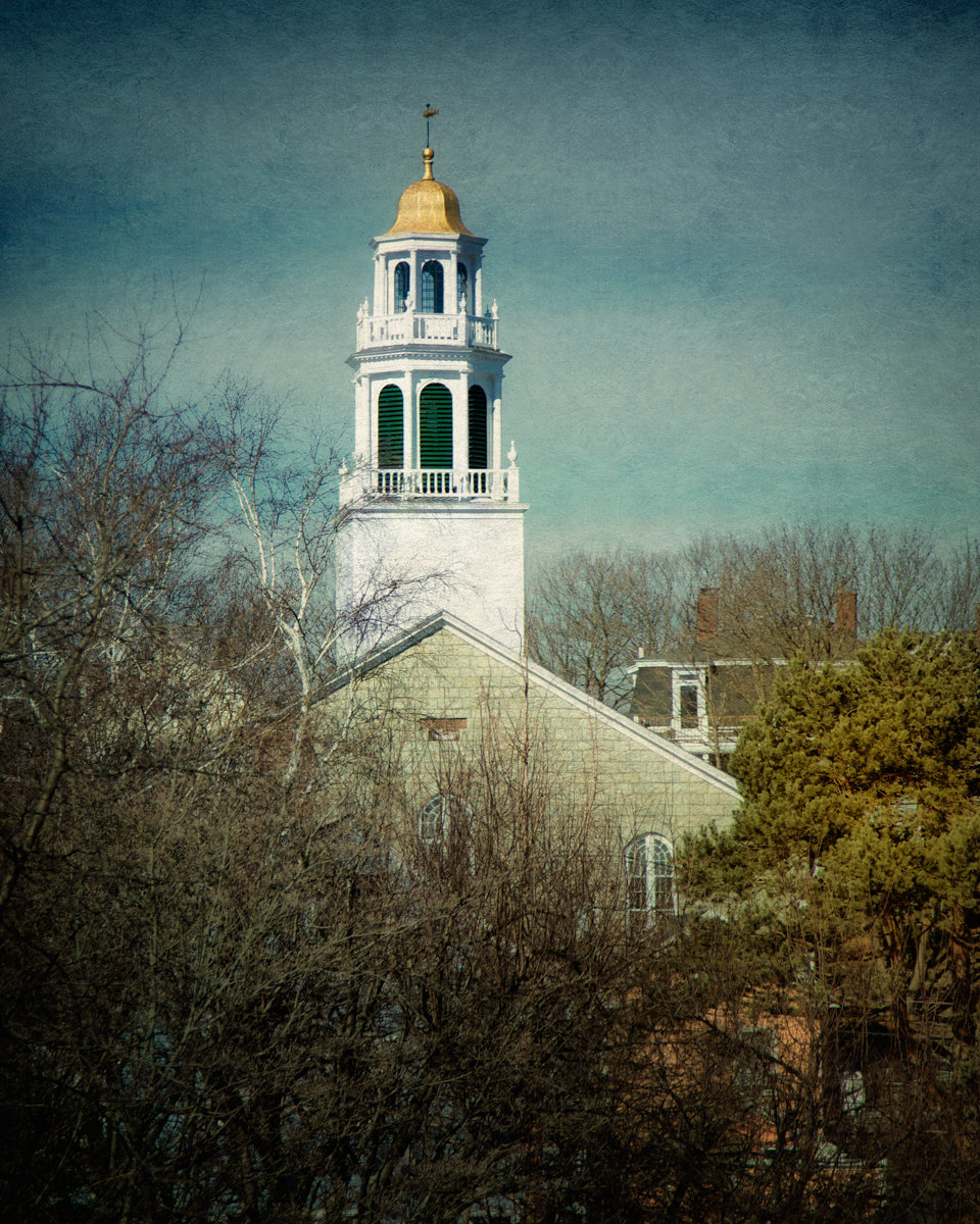 Steeple of Old North in Marblehead