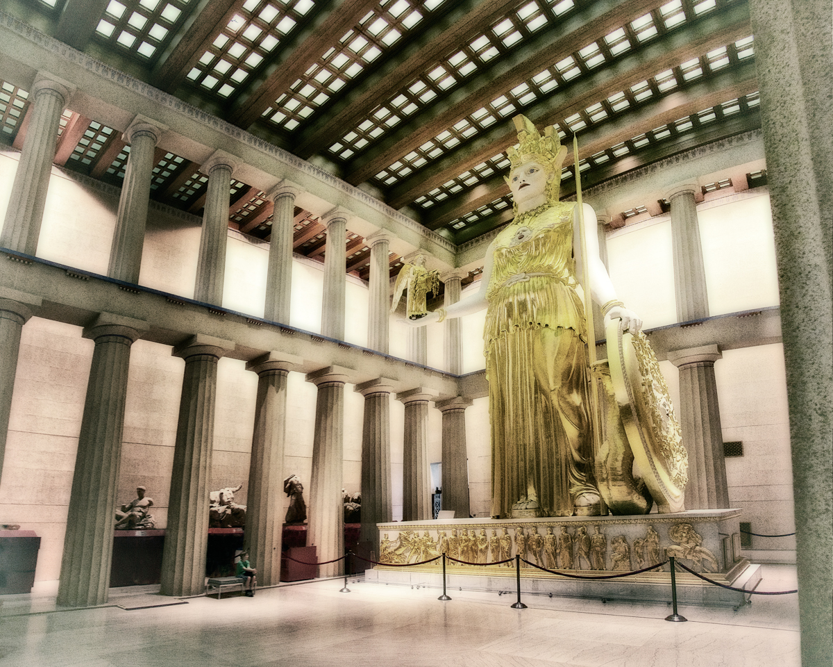 The statue of Athena Pallos in the Parthenon, Nashville, Tennessee